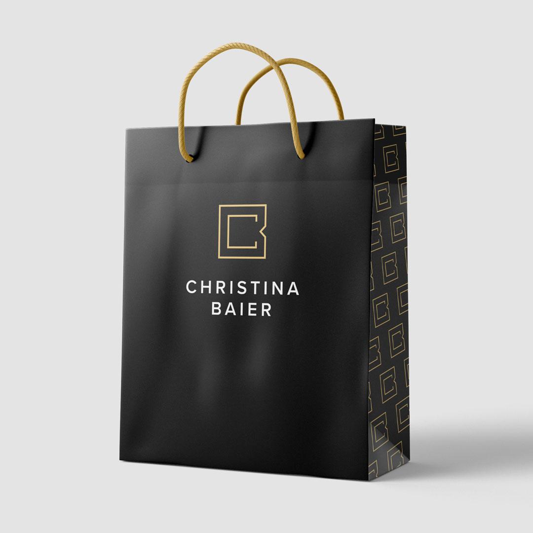 Christina Baier Logo Papiertasche