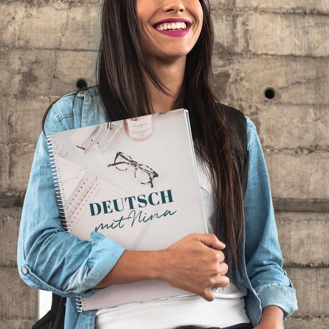 Deutsch mit Nina Brand Design