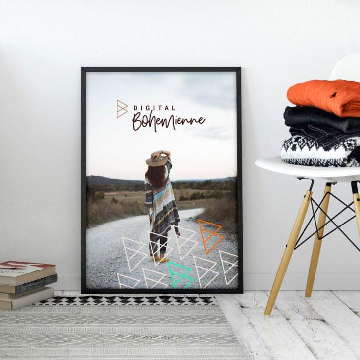 Digital Bohemienne Hauptlogo Poster