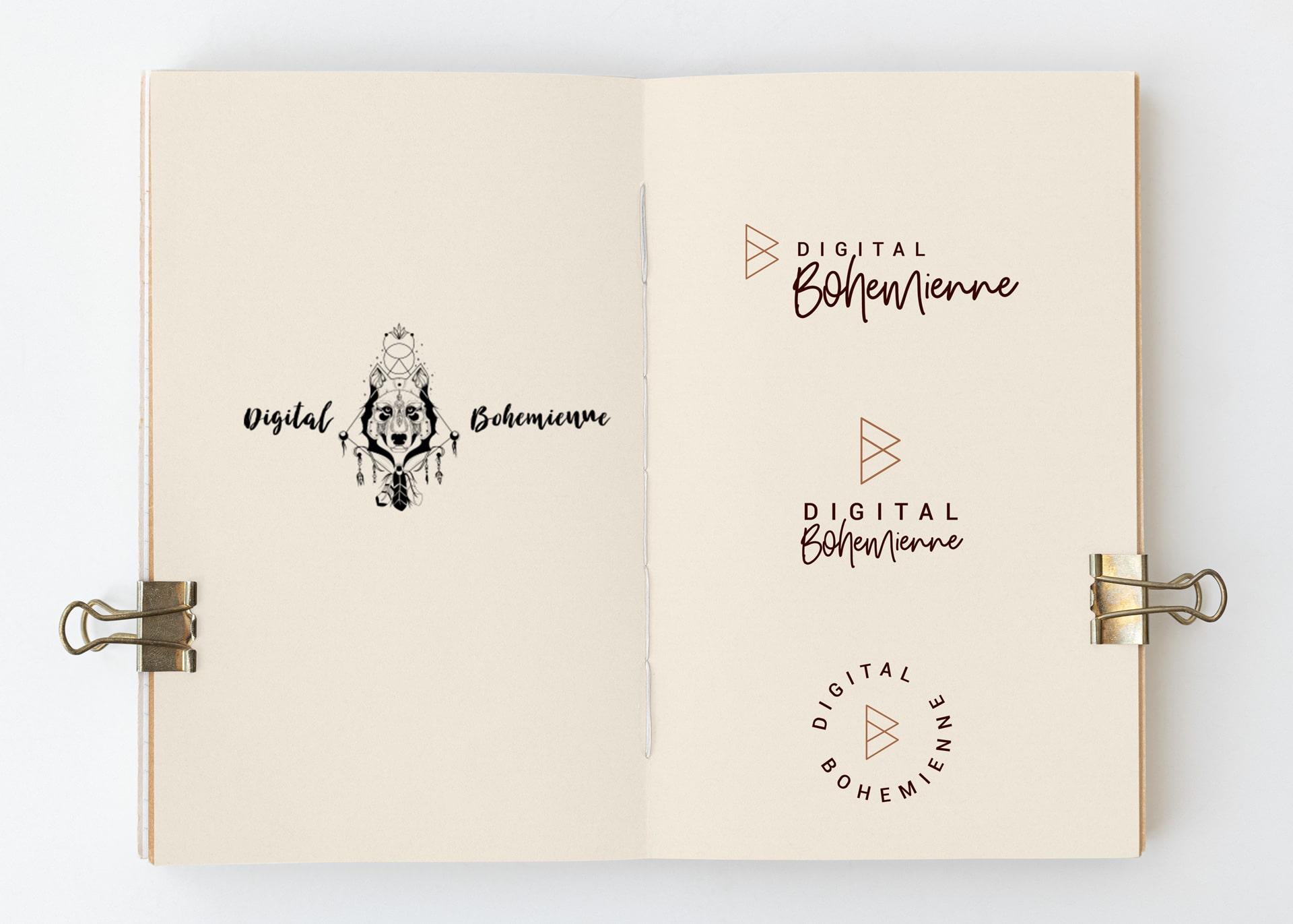 Digital Bohemienne Logo vorher-nachher