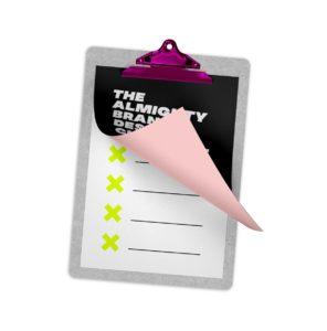 Checkliste mit aufgeklapptem Blatt