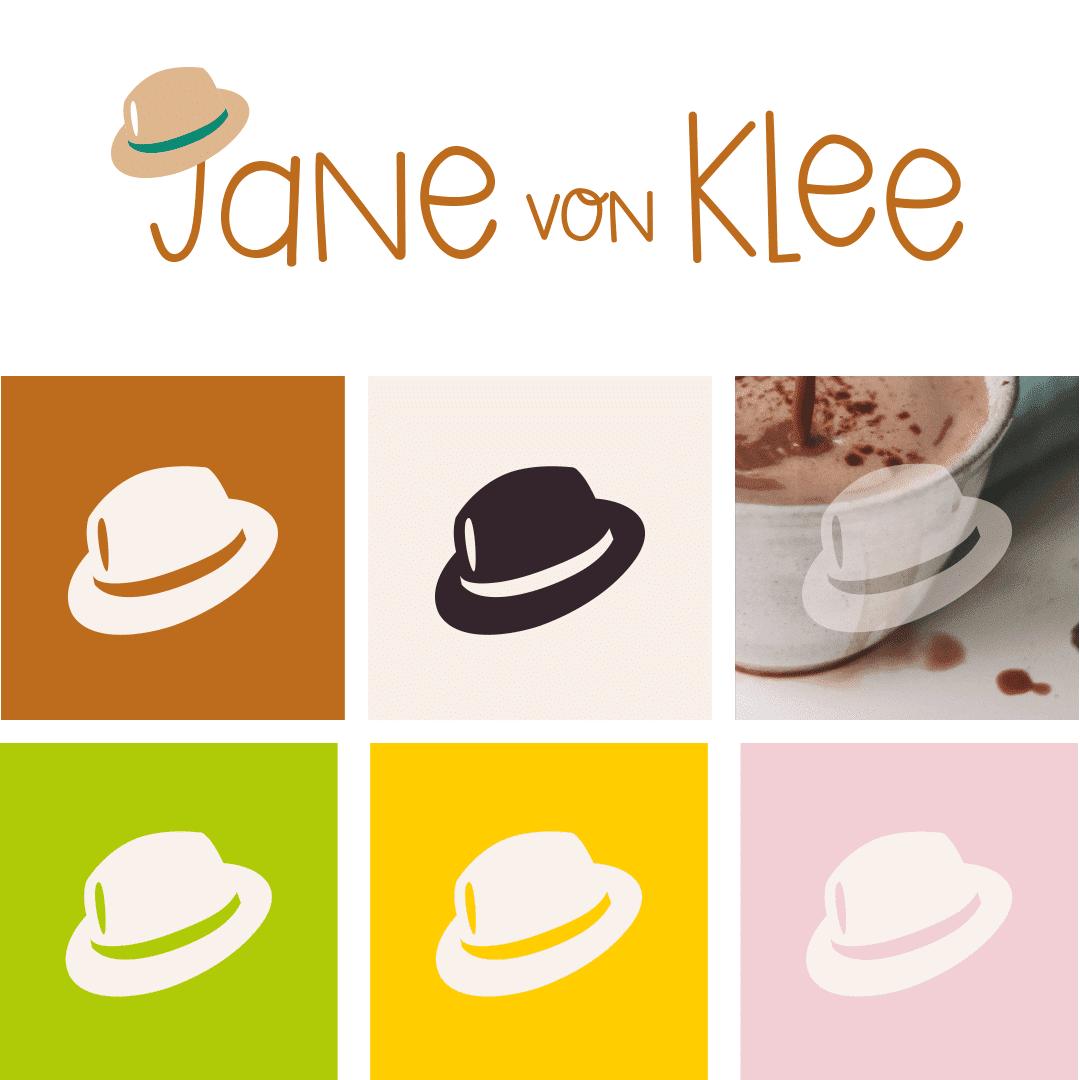 Jane von Klee Hutsymbole und Langlogo