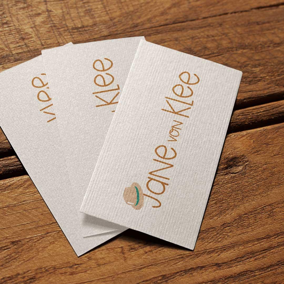Jane von Klee Logo auf Visitenkarte