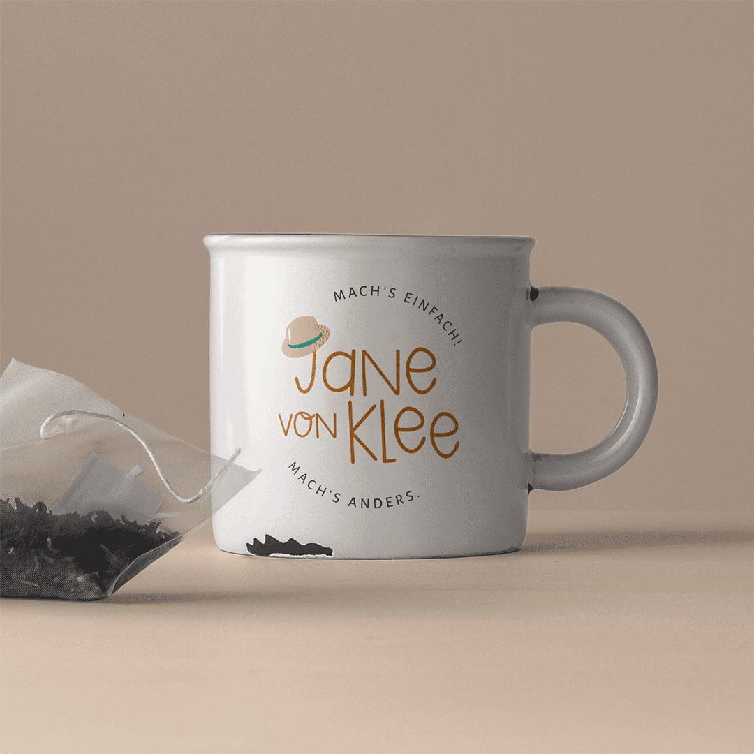 Jane von Klee Rundlogo auf Tasse